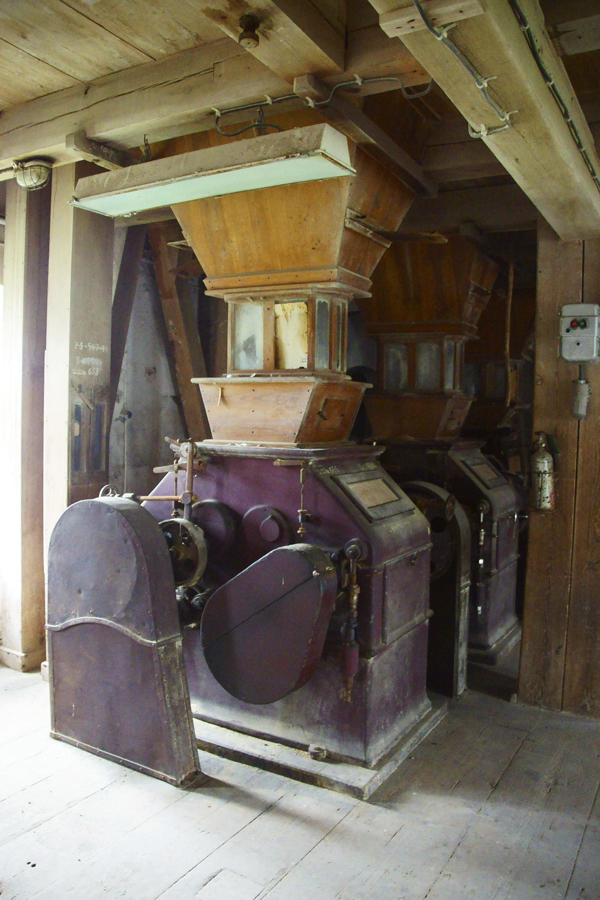 Oryginalne, XIX-wieczne urządzenia młyńskie