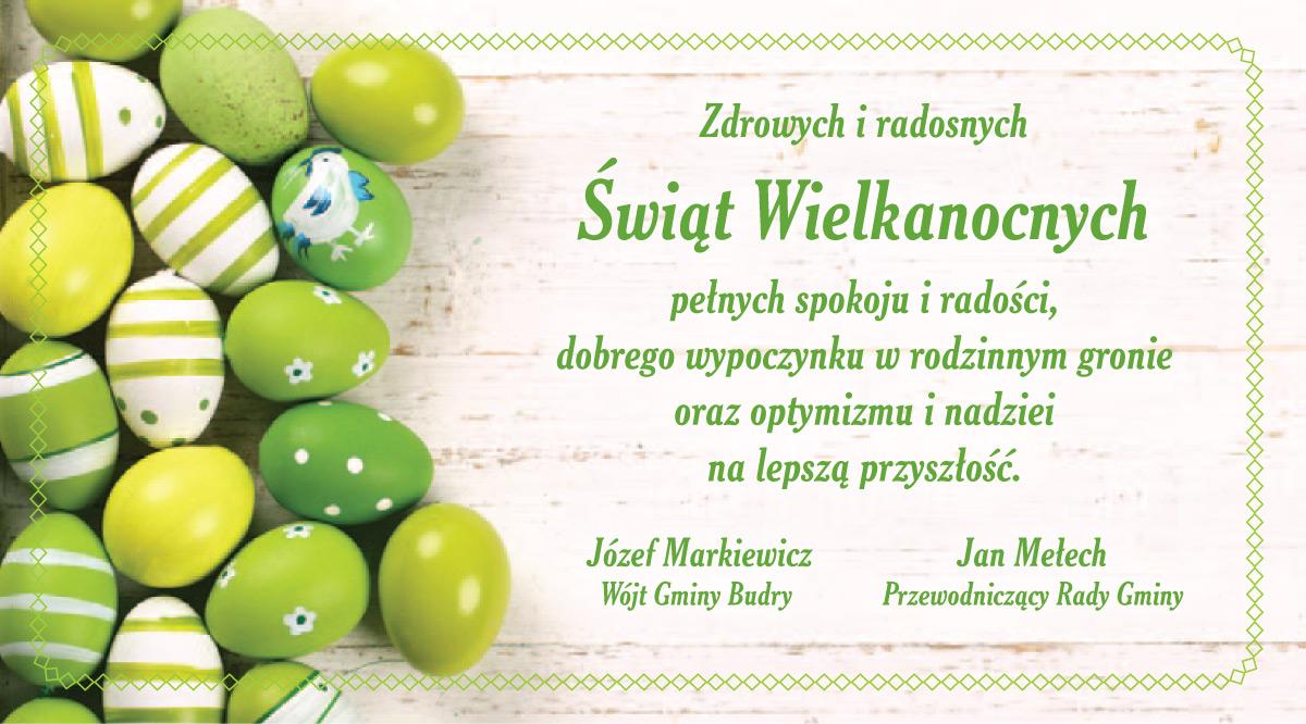Kartka z życzeniami zdrowych i radosnych Świąt Wielkanocnych